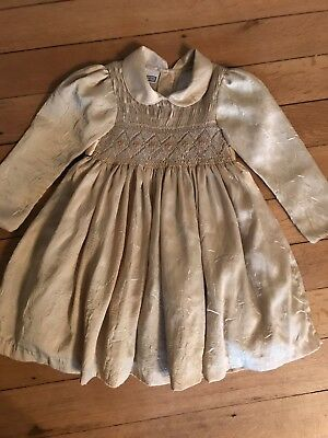 Girls Traditional Smocked Dress Age 4