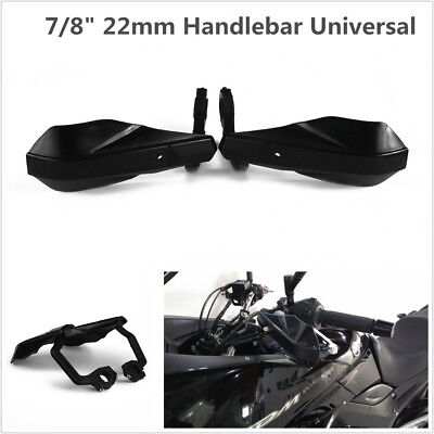 "Pair Black Motorcycle Racing 7/8"" 22mm Handlebar Hand Guards Handguard Protector"