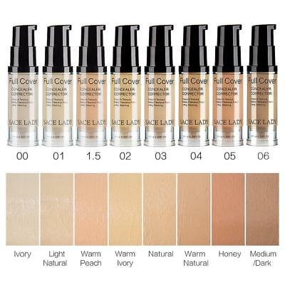 SACE LADY Full Cover 8 Colors Liquid Concealer Makeup Eye Dark Circles Cream