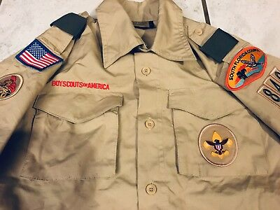 BSA Uniform Shirt Youth Large Webelos Cub Boy Scout South Fl Patch