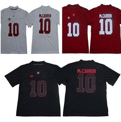 8d30bc956 10 AJ McCarron Alabama Crimson Tide Embroidered College Football Jersey  Size S X