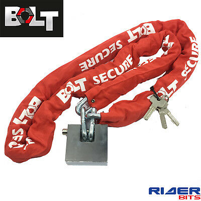 Bolt Block 1.8M Motorcycle Chain Lock 180Cm 10Mm Super Hardened Steel Link