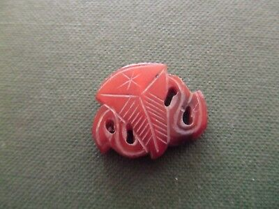 Chinese.   Cornelian.   Carved Decorative Design  Pierced.      Nice Condition.