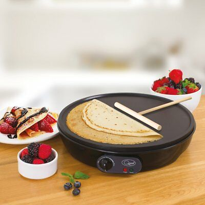 "Quest Electric 12"" 1000W Non Stick Pancake Crepe Maker Machine Omelette Pancakes"