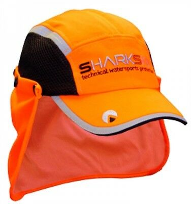 Shark Skin Paddle Cap - orange