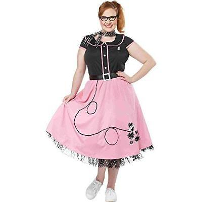 California Costumes Women's Size Pink 50'S Sweetheart Adult Woman Plus, Black, 3