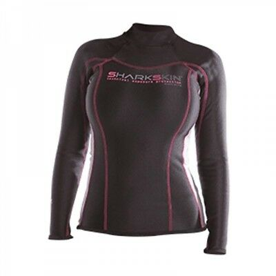 Shark Skin ChillProof Long Sleeve Lady schwarz - Gr. 06