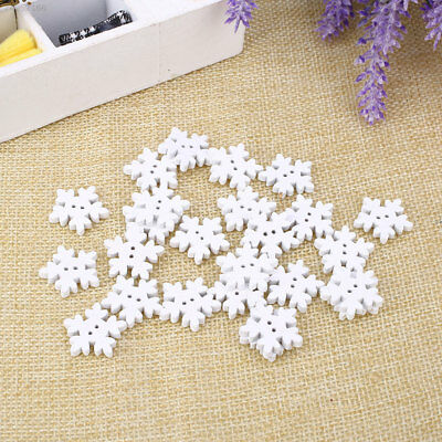 C2DF 25PCS/Pack Christmas Snowflake Button Knitting Accessories Supplies 18MM