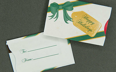 Holiday Gift Card Sleeves - Happy Holidays - 500 count