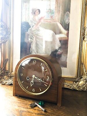 Vintage Mantel Clock Smiths Enfield