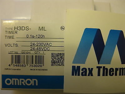 New Omron Timer H3Ds-Ml 0.1S-120H Power 24-230Vac Or 24-48Vdc