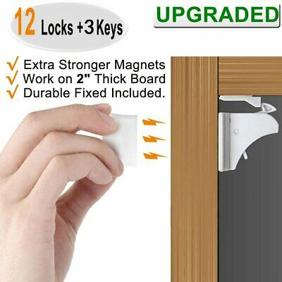 Invisible Magnetic Child Safety Locks Kit for Cabinet Drawer Cupboard Door Proof