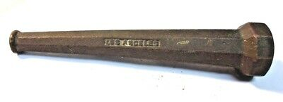"""Vintage Champion Solid Brass 6"""" Fire Water Hose Nozzle Fixed Jet Los Angeles"""