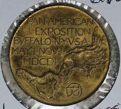 1901 Pan-American Exposition Official Medal Gilded Medal Token