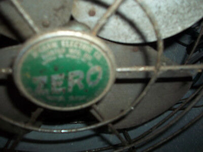 Vintage ZERO Metal Cage FAN McGraw Edison Model 1250R Wall Mount / Desktop Works