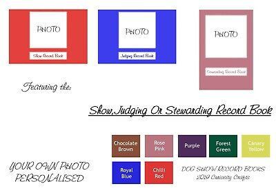 Personalised YOUR OWN PHOTO Record Book: Show, Judging or Stewarding Dog Show