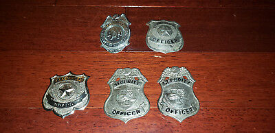 Vintage Security Guard / Officer Badges AAA - Lot of 5