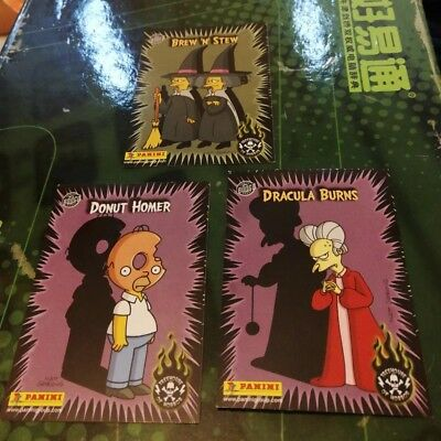 *joblot* 3x Panini The Simpsons Glow in the dark Cards