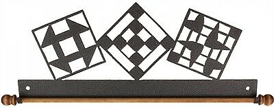 QUILT BLOCKS, 12 INCH QUILT HANGER WITH ROD, From Ackfeld Manufacturing NEW