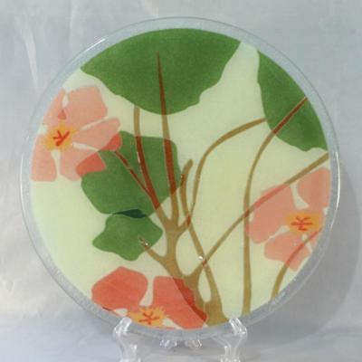 10 Inch PLATE Peggy Karr Glass Fused Art SIGNED