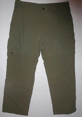 Boy Scouts of America men's XXL green zip off convertible hiking athletic pants