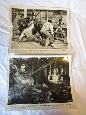 """Set Of 2 1962 """"seven Brides For Seven Brothers """" Lobby Card Vintage Movie Photo"""