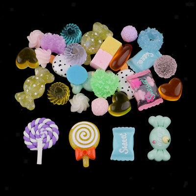 5pcs Milky Candy Oval Sweets Resin Flatback Cabochon Embellishment Scrapbooking