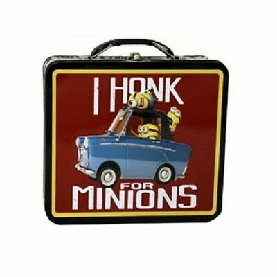 Despicable Me Square Carry All Tin Stationery Box - I Honk For Minions
