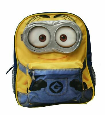 """Despicable Me Small Toddler 12"""" Cloth Backpack Book Bag Pack - Minions"""