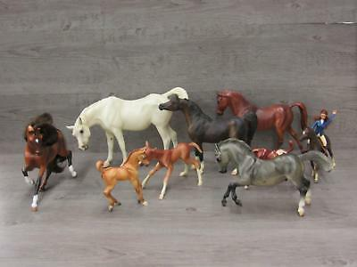 Lot of Breyer Horses Mares Foals Mane & Tail Assorted Size