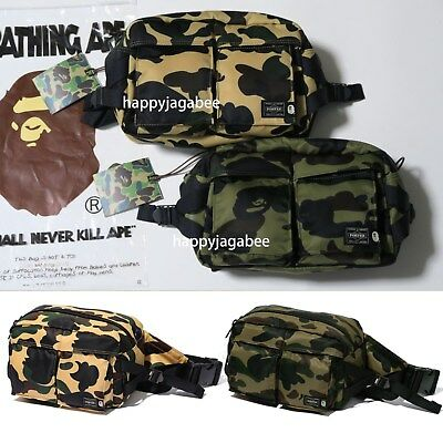 f4e6dbf6713a A BATHING APE Goods Men s BAPE x PORTER 1ST CAMO WAIST BAG Shoulder GN YW