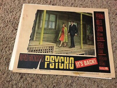 Huge lot of 24 Horror Lobby Cards Psycho, The Frozen Ghost and more