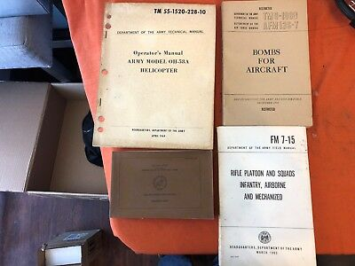 Lot of 4 Vintage Military Manuals--Very Nice Condition!