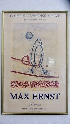 Affiche Max Ernst Galerie Alphonse Chave Vence 1980