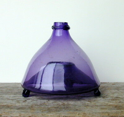 ANTIQUE VINTAGE GLASS FLY BEE WASP BUG INSECT TRAP CATCHER Purple