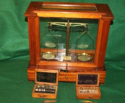 A. Gallenkamp & Co Jewelers Apothecary Balance Scale w/2 BOXES WEIGHTS Inv#WH01