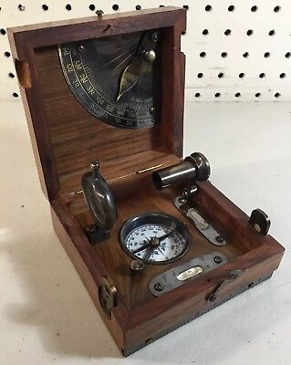 Vintage T.cooke&sons London 1858 Marine Master Box Brass Navigation Compass Rare