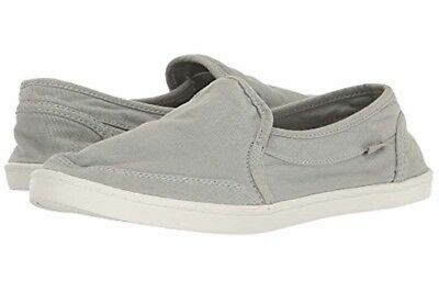 19491215bac New Womens Size 9 Sanuk Pair O Dice Harbor Mist Grey Canvas Sneakers Boat  Shoes