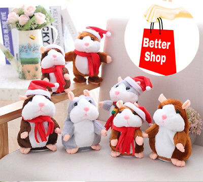Cheeky Hamster ™ Christmas Talk Hampster Speak Record Voice Plush Funny Talking