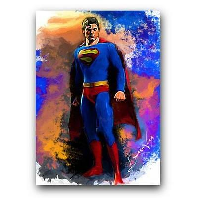 Superman Collectible Limited Edition Art Card15/25 Artist Signed