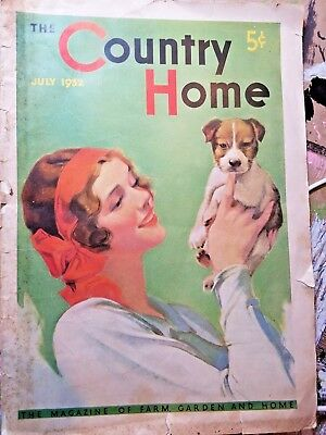 The Country Home Magazine July 1932 Farm and Garden Magazine Vintage Ads