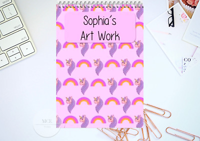 Unicorn Personalised A4 Sketch pad/ Art book/ Drawing Book