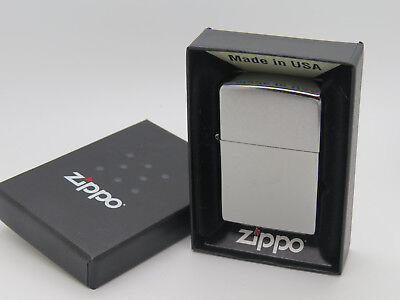 Genuine Zippo 207 Regular Street Chrome Windproof Lighter USA In Box! E