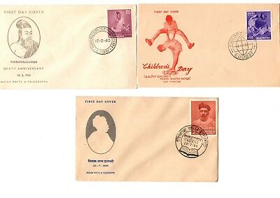 India 1950's-60's First Day Covers (5)