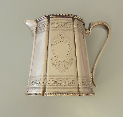 Victorian Pretty Solid SILVER Cream JUG. Sheffield 1875. White, Henderson & Co