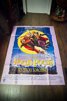 HOCUS POCUS Walt Disney 4x6 ft Vintage French Grande Movie Poster 1994