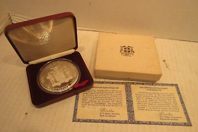 1978 Jamaica 25 Dollar Proof Silver Coin KM76 .925 Sterling 25th Anniversary