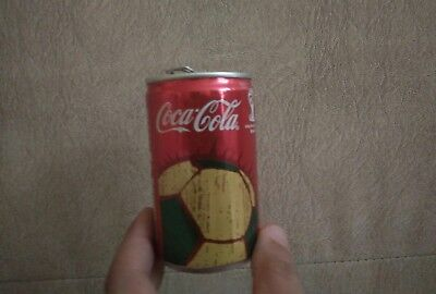 Empty Coca Cola Mini Can Mondial Brazil FIFA 2014 150ml From ISRAEL Top Opened