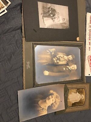 Lot of 4 Original B&W Old Photos Vintage Family Snapshots Black and White,