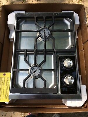 Wolf Ct15g S 15 Inch Gas Cooktop 2 Dual Stacked Stainless Steel